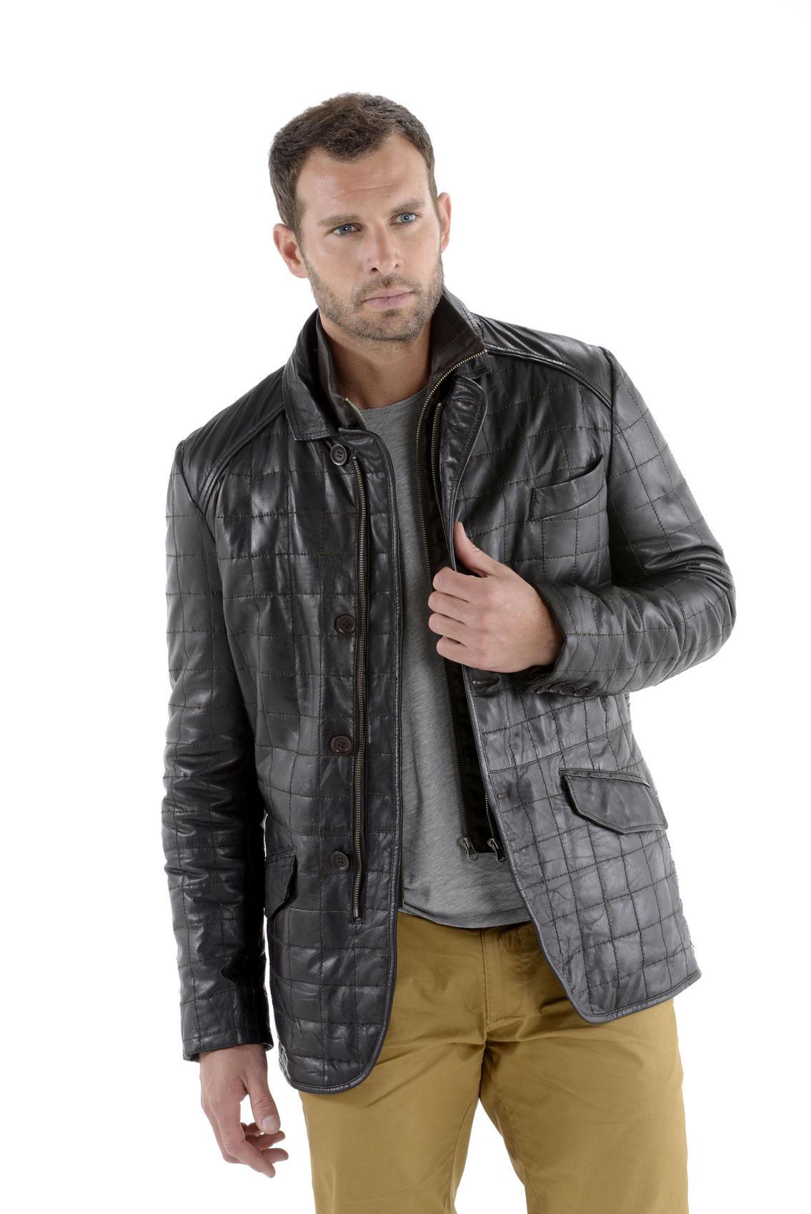 Veste cuir pour homme pas cher